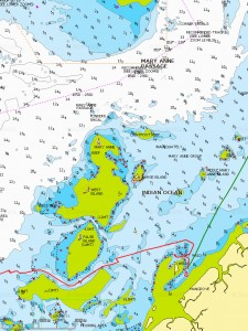 Port Weld et son raccourci, au Nord Mary Anne Passage