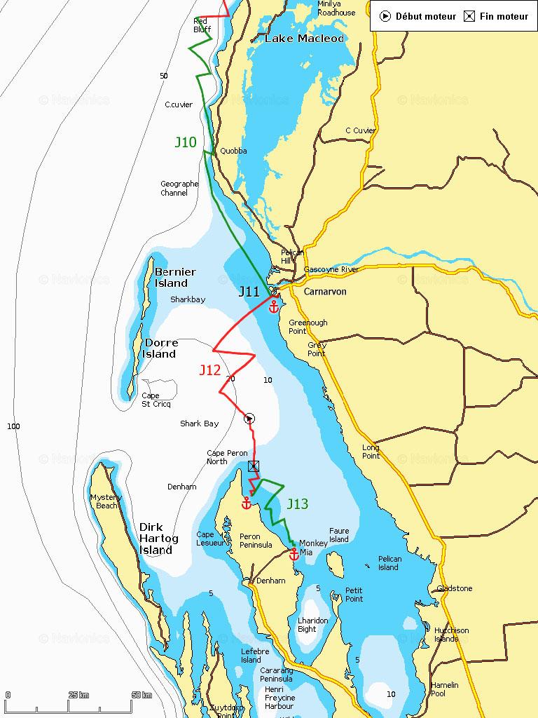 J10-13 Shark Bay, Carnarvon et Monkey Mia