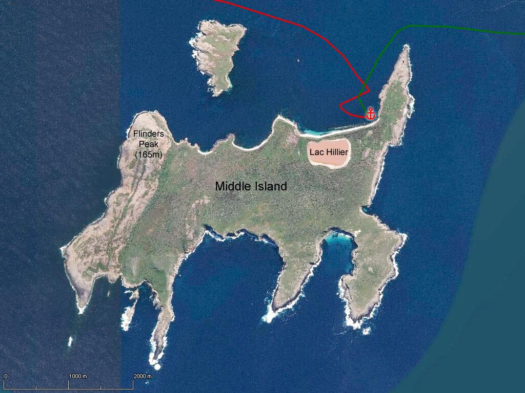 Middle Island et son étonnant lac rose