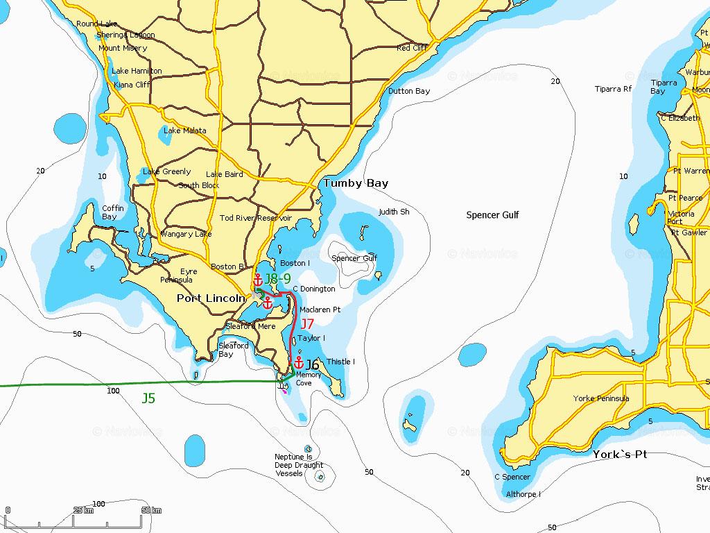 J6-9 Memory Cove, Port Lincoln (golfe Spencer)
