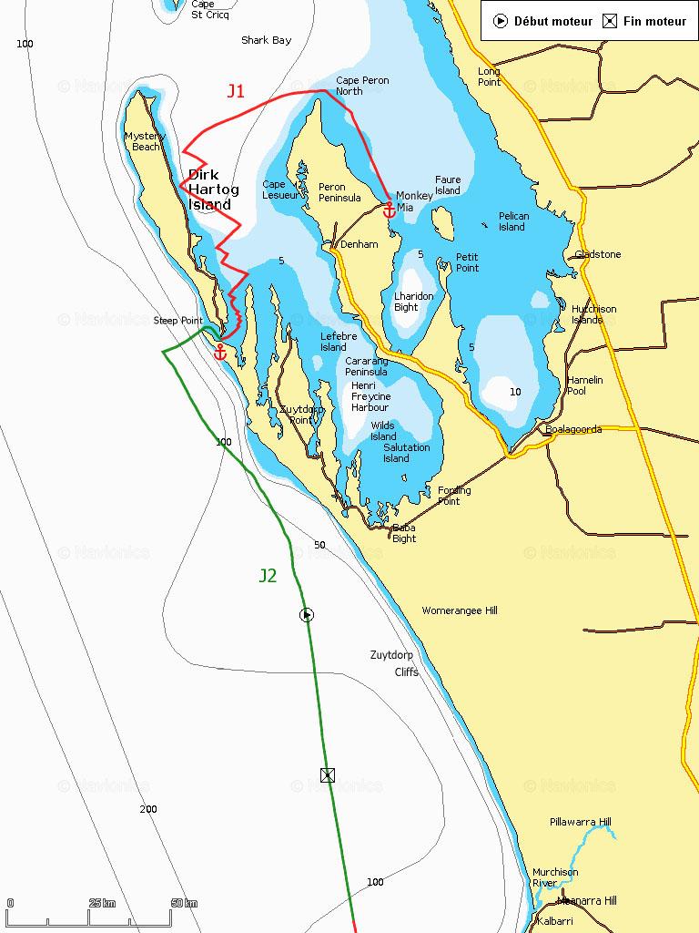J1-2 Départ de Monkey Mia, Shark Bay, Steep Point