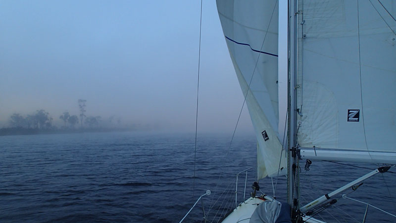 Brouillard matinal sur la Huon River