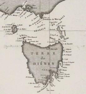 Carte de la Tasmanie (1811)