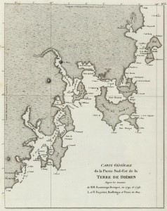 Carte de la partie Sud-Est de la Tasmanie (1811)