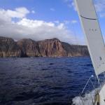 Les Fluted Cliffs du South Cape, 5 milles avant le South East Cape