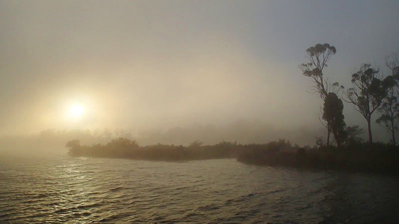 Retour dans le bras Ouest de la rivière Huon