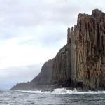 Cap Raoul, un des trois proéminents caps de la péninsule Tasman