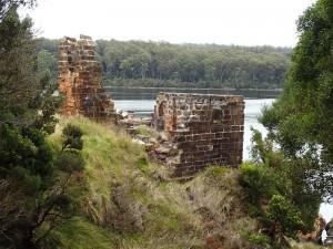 Les restes du pénitencier de Sarah Island