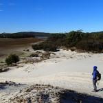 Au NW de la péninsule Tasman, Sloping Lagoon presque à sec