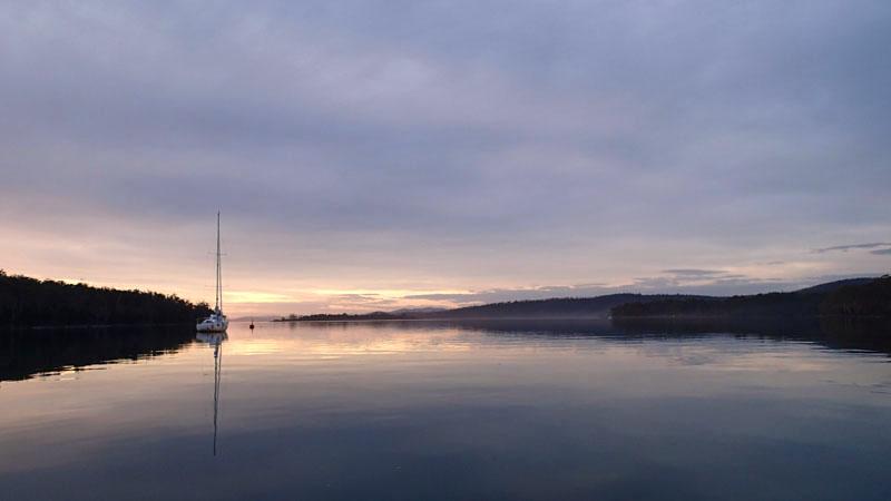 L'Envol à Taranna dans la Little Norfolk Bay (Tasman Peninsula)