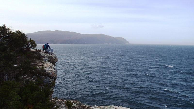 La mer de Tasman non loin de Pirates Bay (Tasman Peninsula)