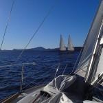 Arrivés à Hobart, on croise Swish, un voilier avec 2 mâts autoportés