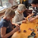 Carol, Gina et Carina en kimono, le Japon à l'honneur