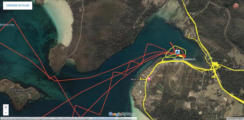 L'Envol à Murdunna - cliquer sur l'image pour ouvrir la Google Maps